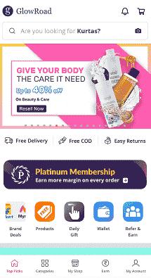 GlowRoad-app-homepage